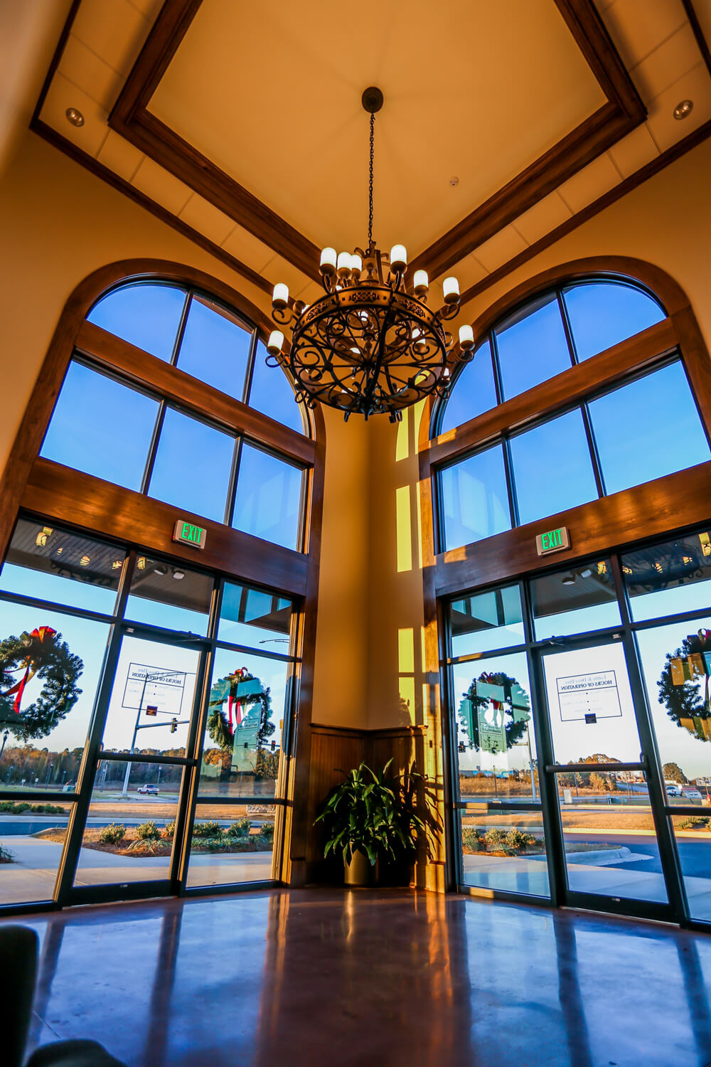 First Cahawba Bank - Lobby Perspective - Designed by Foshee Architecture