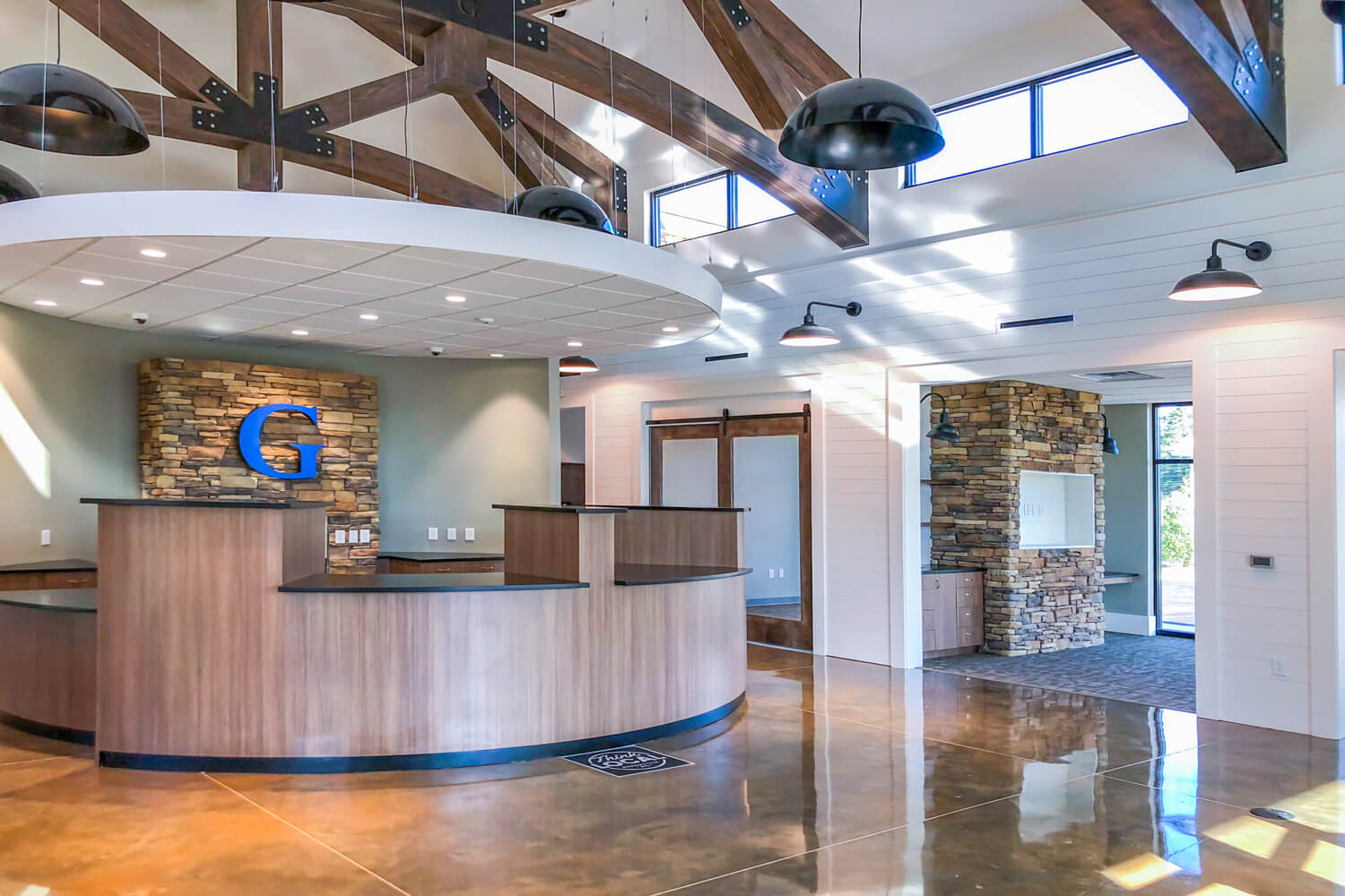 Guardian Credit Union - Main Lobby - Designed by Foshee Architecture