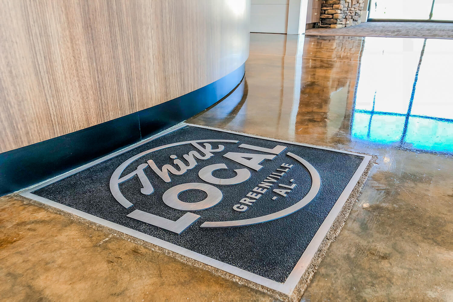 Guardian Credit Union - Floor Plaque - Designed by Foshee Architecture
