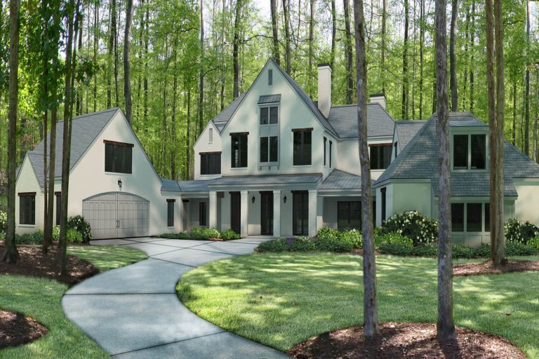 Private Residence 4 - Exterior Elevation - Designed by Foshee Architecture