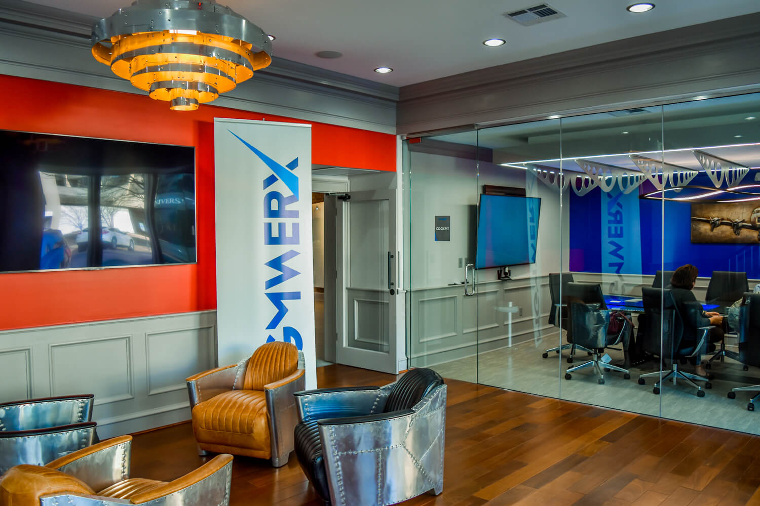 MGMWerx Collaboration Space - Front Lobby - Designed by Foshee Architecture