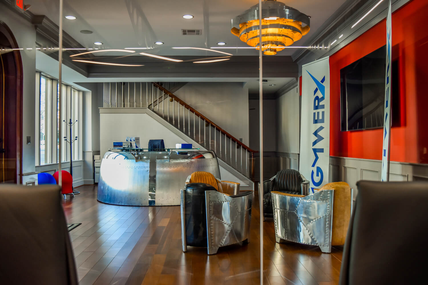 MGMWerx Collaboration Space - View of the Front Lobby - Designed by Foshee Architecture