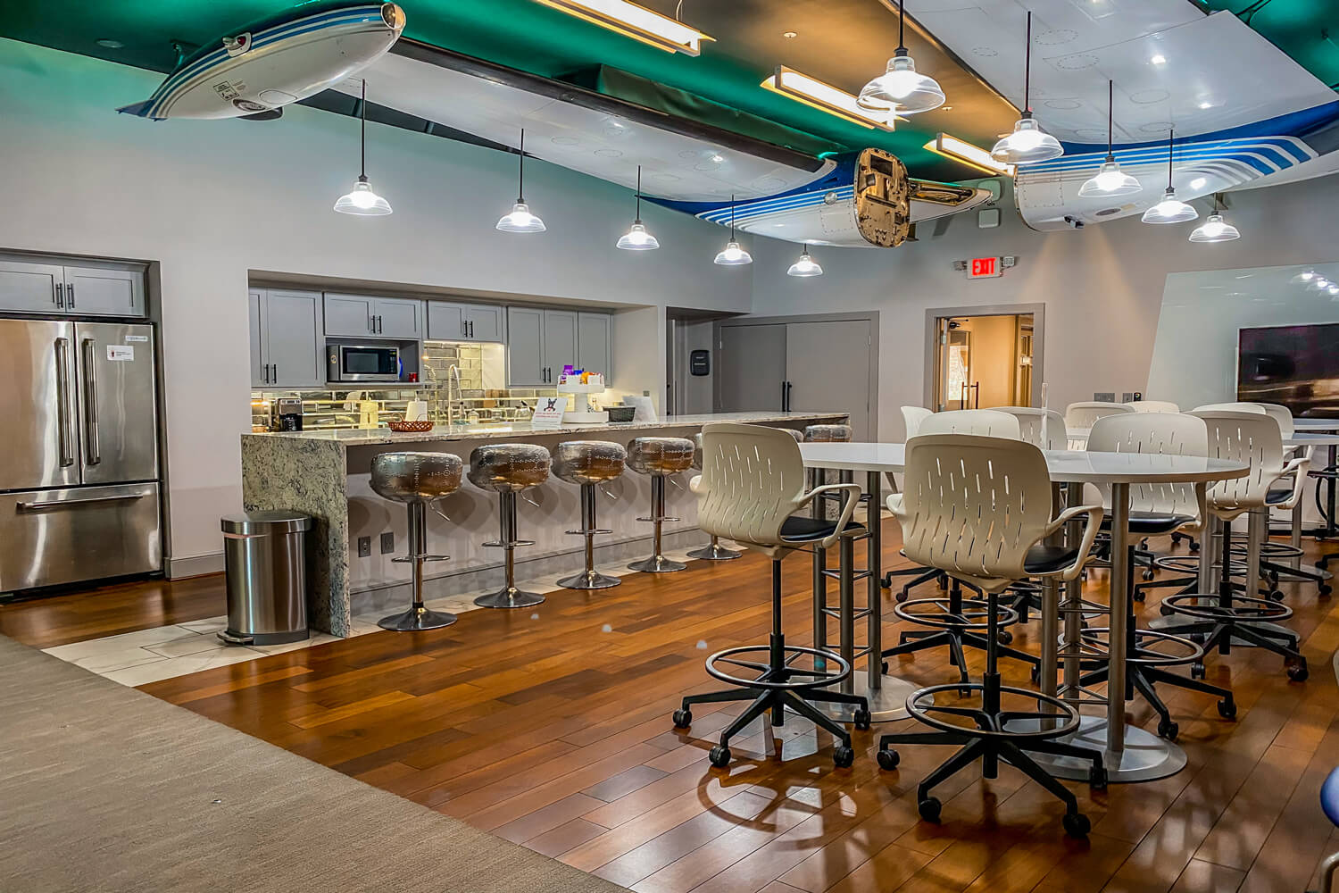 MGMWerx Collaboration Space - Kitchen Area - Designed by Foshee Architecture