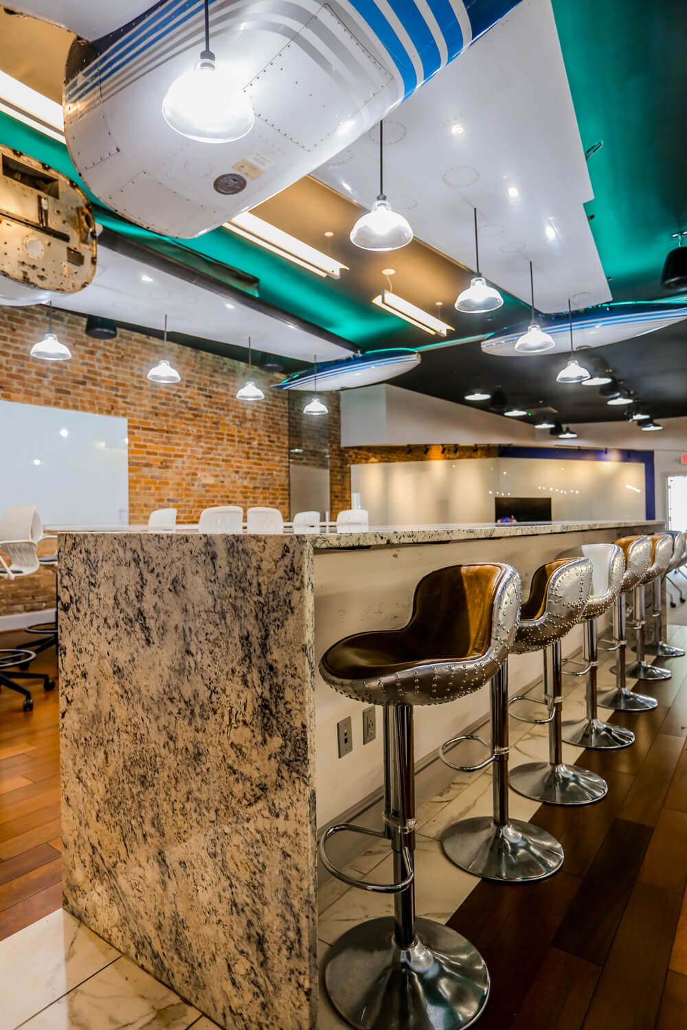 MGMWerx Collaboration Space - Kitchen Island - Designed by Foshee Architecture