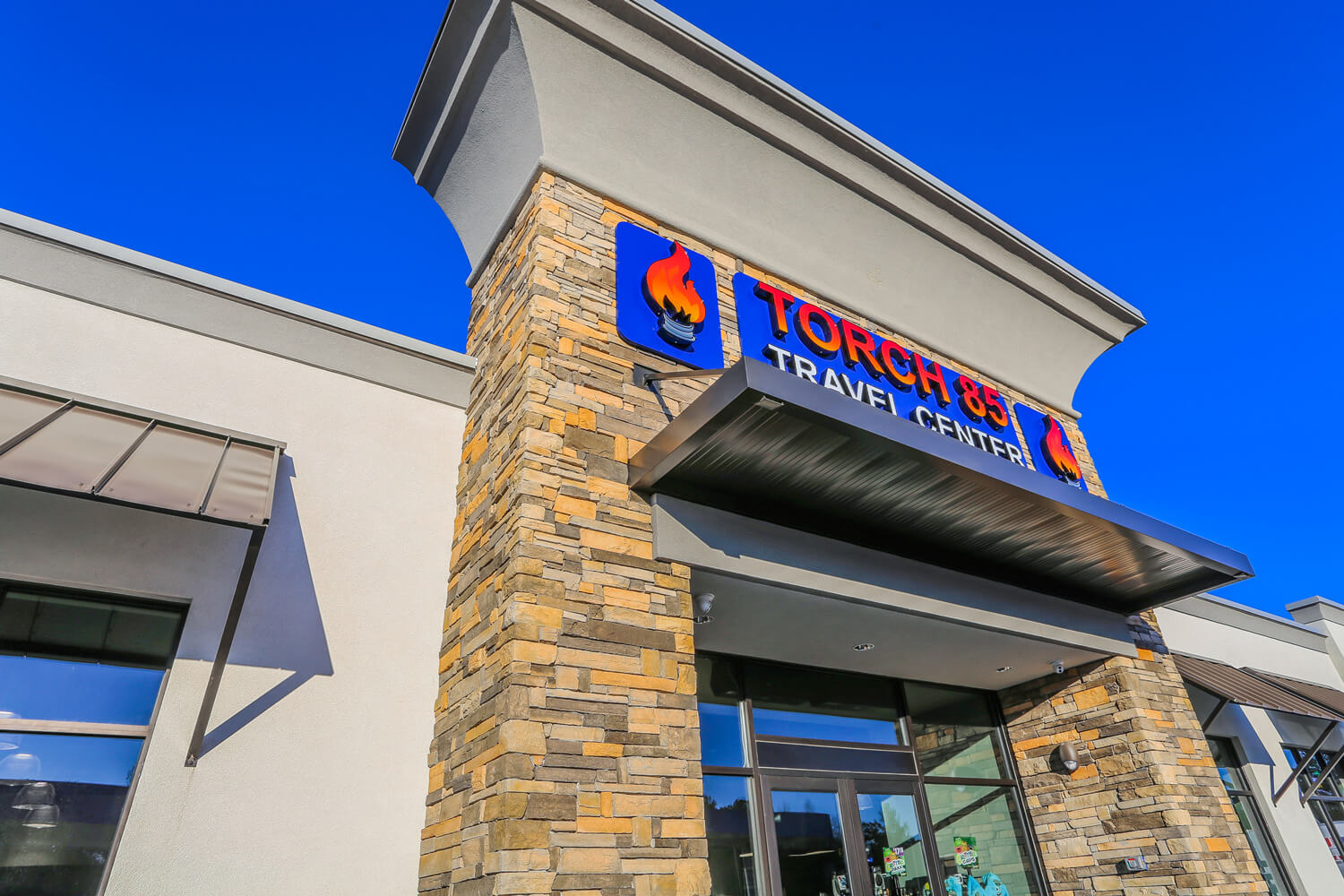 Torch 85 - Entrance Awning - Designed by Foshee Architecture