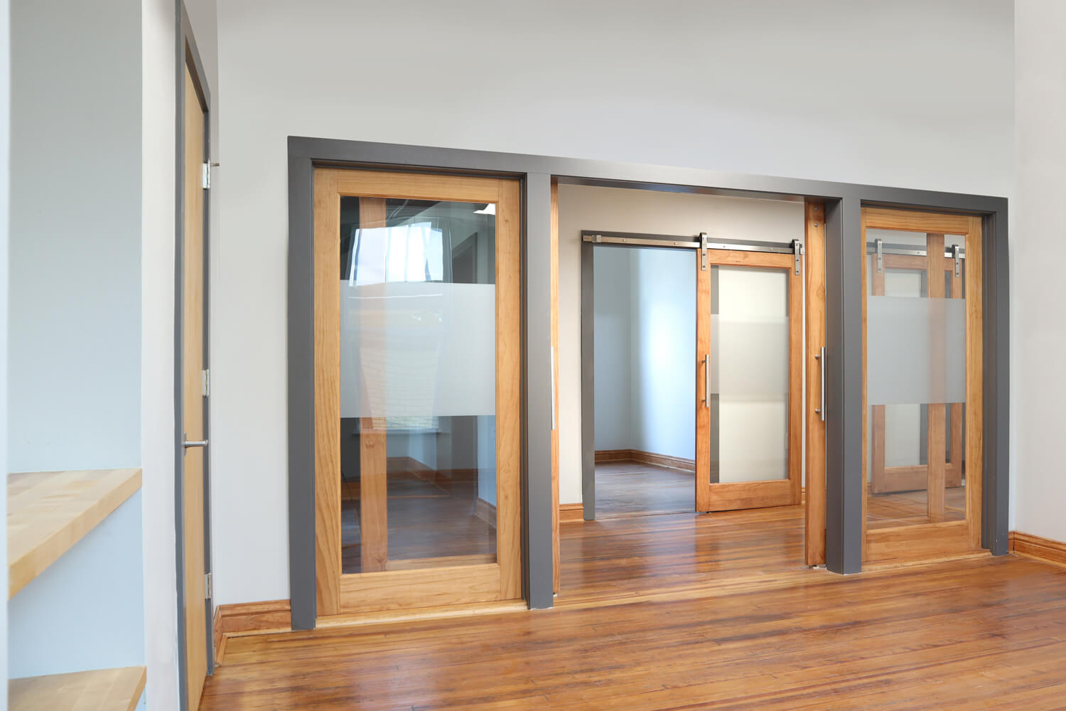 Wealth Management Partners - Sliding Barn Doors - Designed by Foshee Architecture